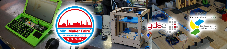 Mini Maker Faire Sindelfingen 2019 – eine unabhängig organisierte Veranstaltung unter der Lizenz von Maker Media, Inc.